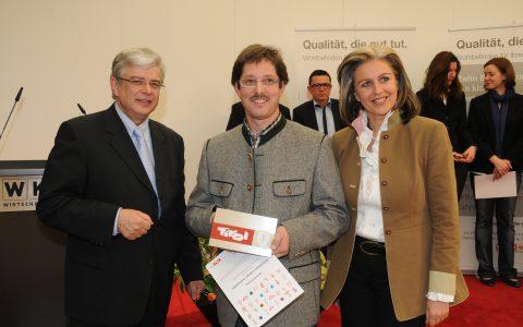 Hermann Ladner mit dem Tirol Q Siegel